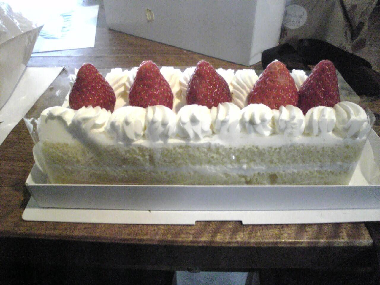 お年玉がわりのケーキ
